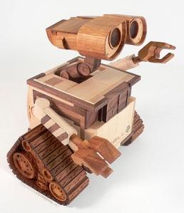 Wooden Wall-E